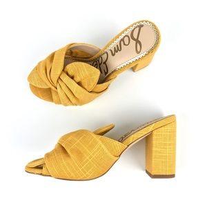 NEW {Sam Edelman} Oda Woven Block-Heel Mules